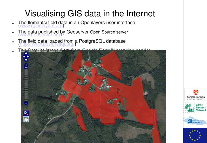 Visualising GIS data in the Internet