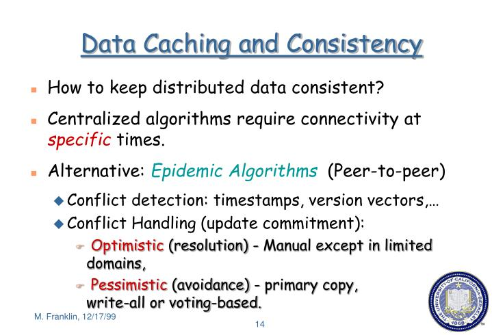 Data Caching and Consistency
