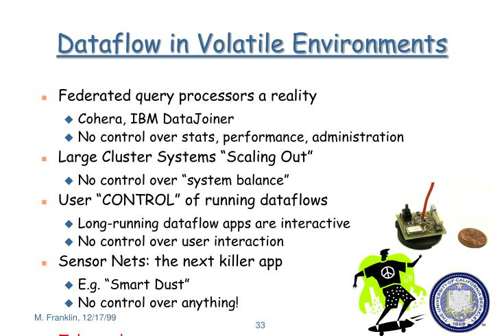 Dataflow in Volatile Environments