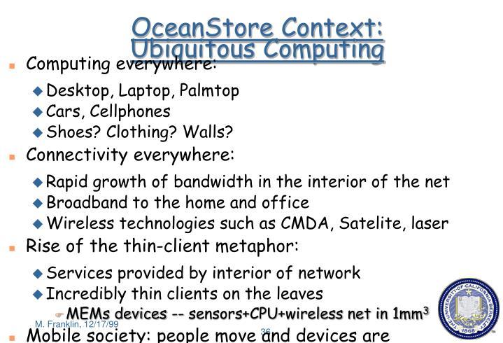 OceanStore Context: