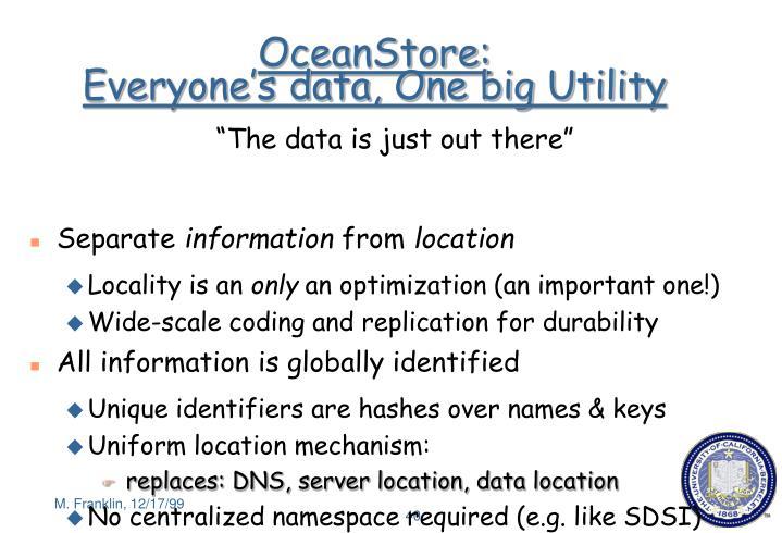 OceanStore: