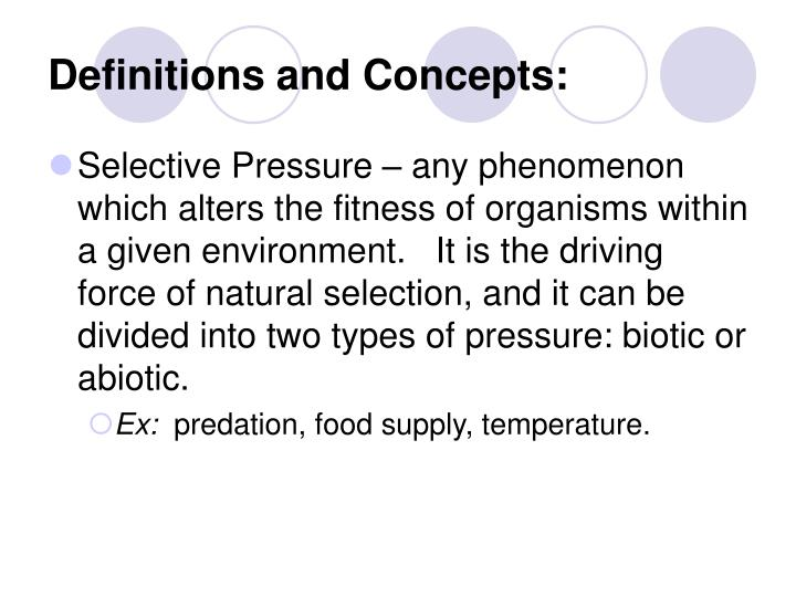 Definitions and Concepts: