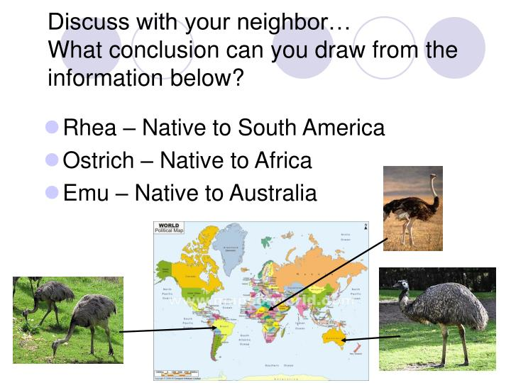 Discuss with your neighbor…