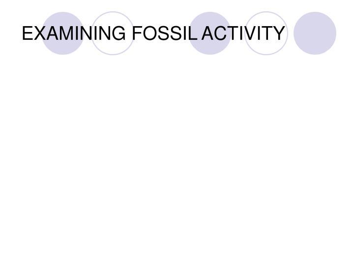 EXAMINING FOSSIL ACTIVITY