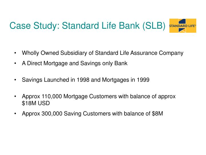 Case Study: Standard Life Bank (SLB)