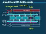 mixed clock fifo full scenario