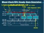 mixed clock fifo steady state simulation