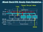 mixed clock fifo steady state simulation1
