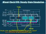 mixed clock fifo steady state simulation3