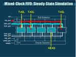 mixed clock fifo steady state simulation4