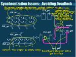 synchronization issues avoiding deadlock