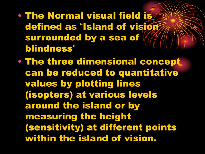 The Normal visual field is defined as