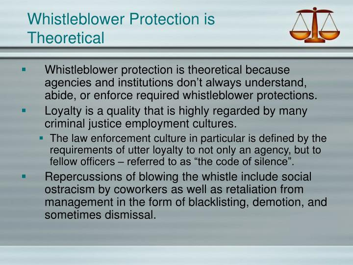 Whistleblower Protection is