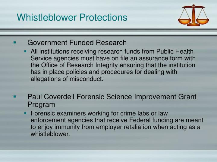 Whistleblower Protections