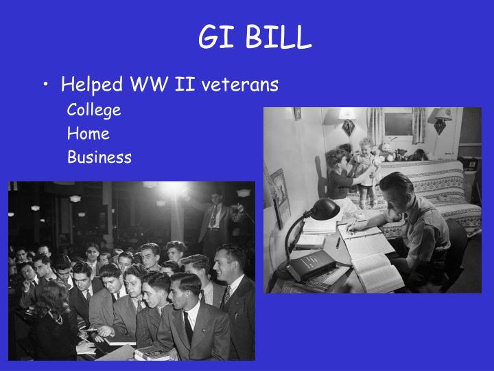 Helped WW II veterans