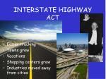 interstate highway act