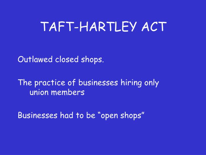 Taft hartley act