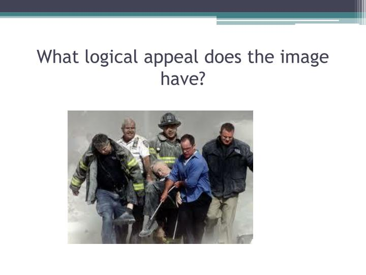What logical appeal does the image have?