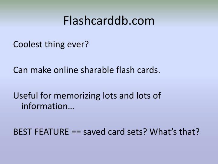 Flashcarddb.com