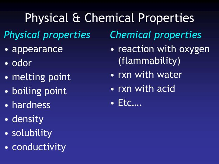 Physical & Chemical Properties