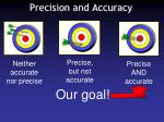 precision and accuracy