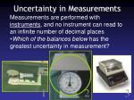 uncertainty in measurements