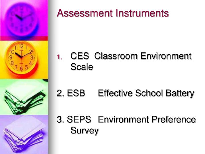 Assessment Instruments