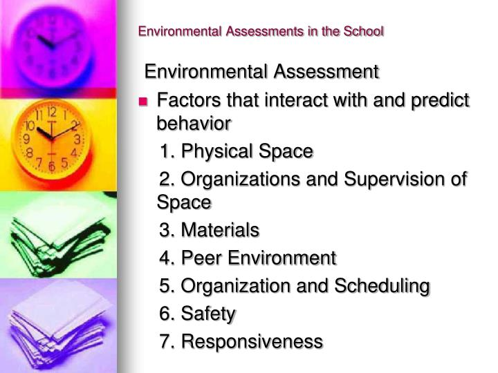 Environmental Assessments in the School