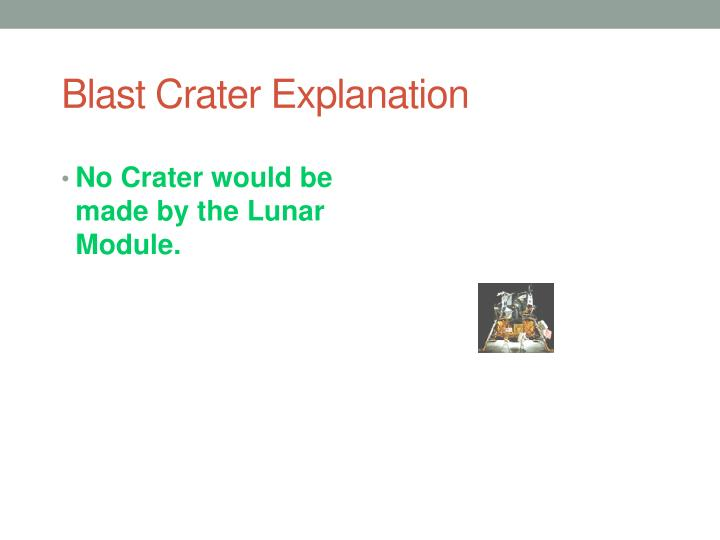 Blast Crater Explanation