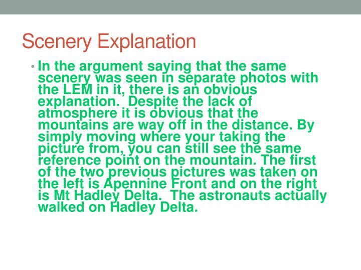 Scenery Explanation