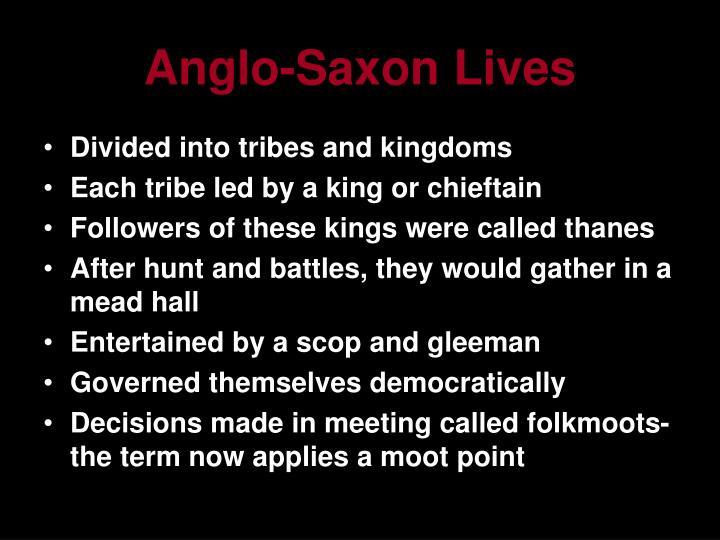 Anglo-Saxon Lives