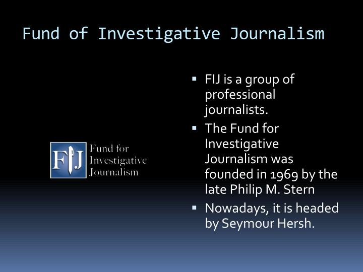 Fund of Investigative Journalism
