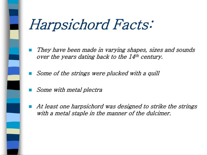 Harpsichord Facts: