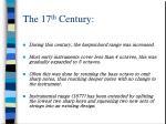 the 17 th century1