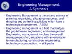 engineering management a synthesis