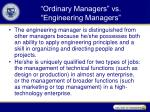 ordinary managers vs engineering managers