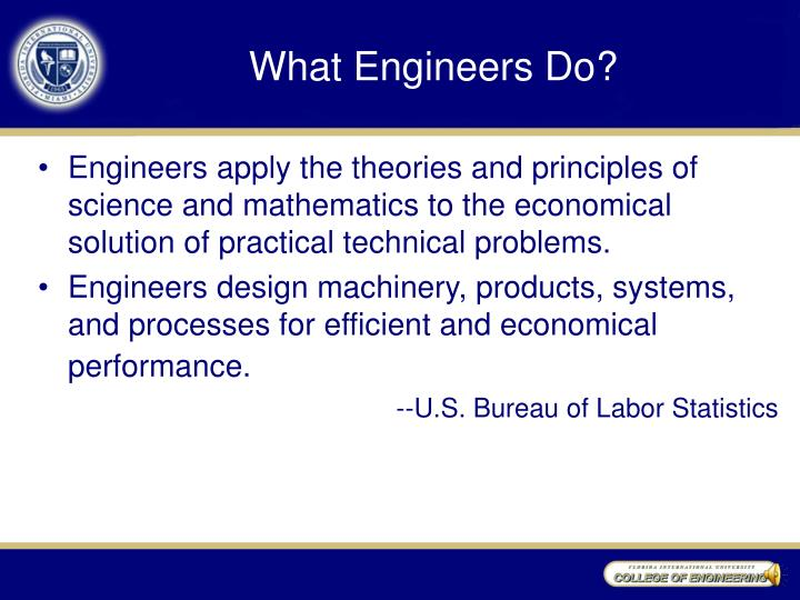 What Engineers Do?