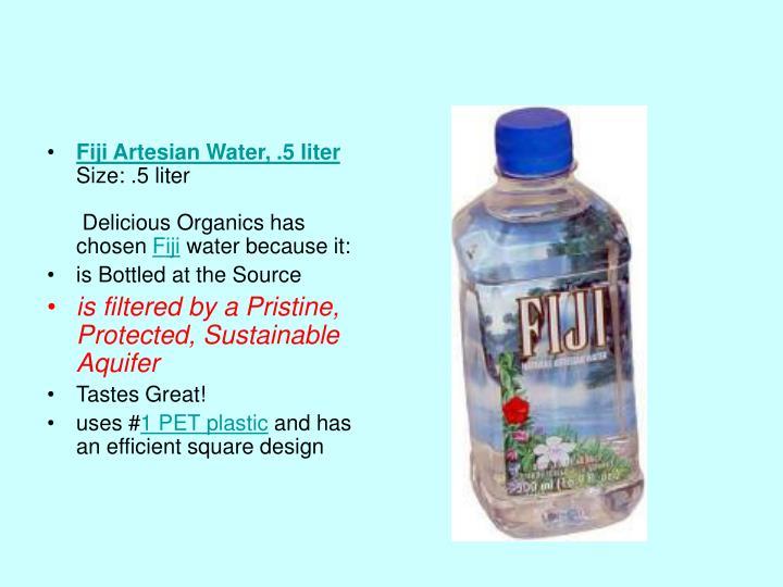 Fiji Artesian Water, .5 liter