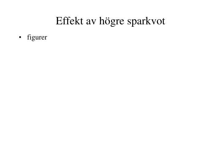 Effekt av högre sparkvot
