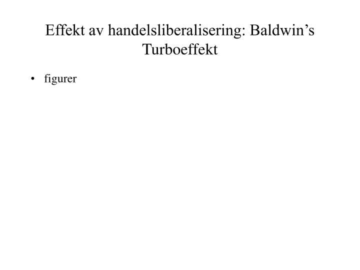 Effekt av handelsliberalisering: Baldwin's Turboeffekt