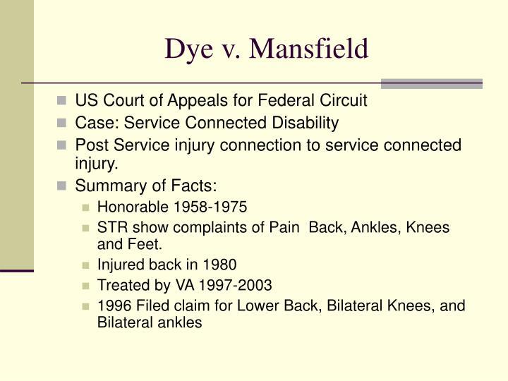 Dye v. Mansfield