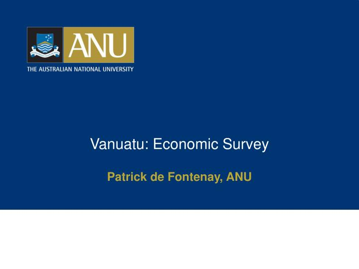 Vanuatu economic survey