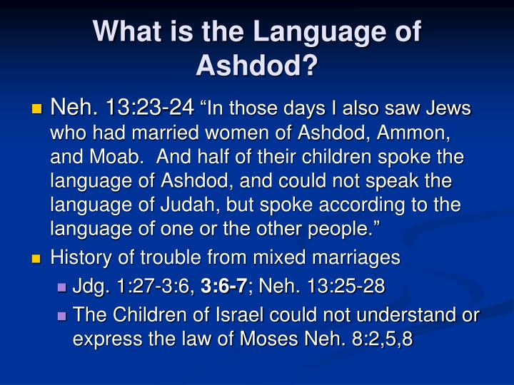 What is the Language of Ashdod?