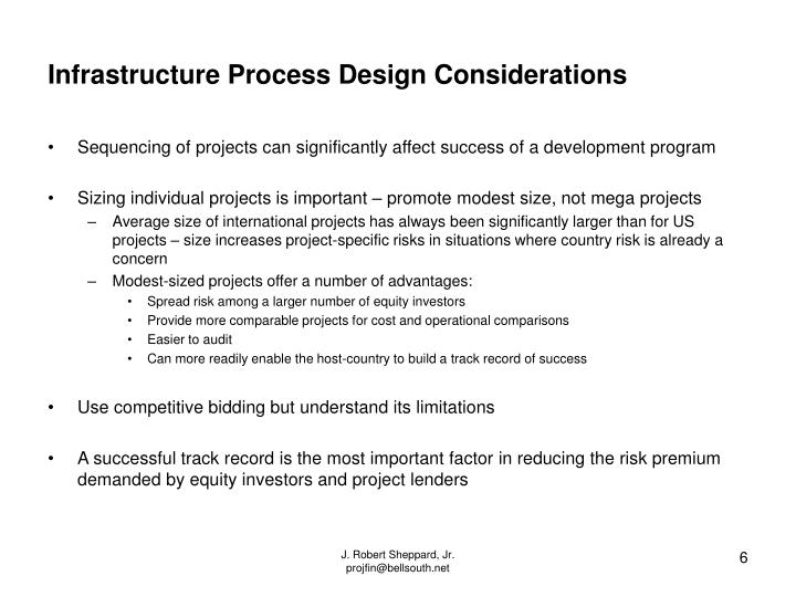 Infrastructure Process Design Considerations