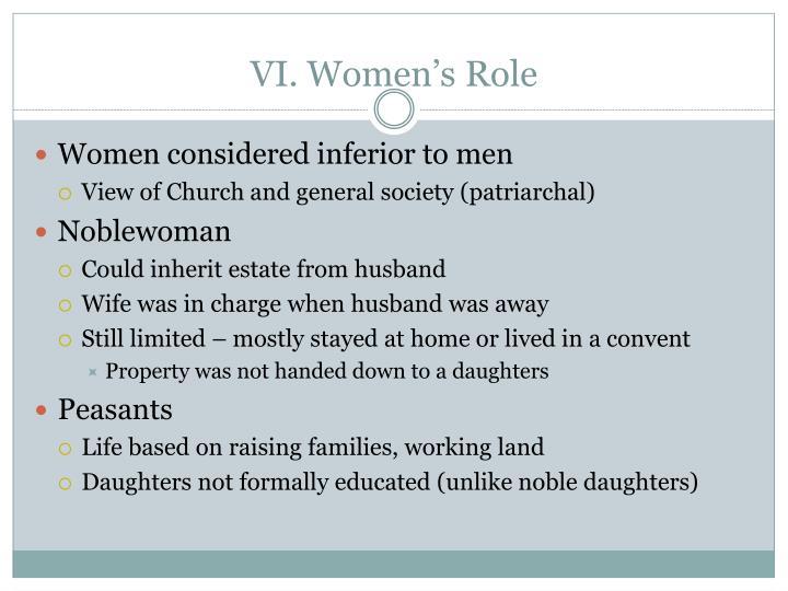 VI. Women's Role