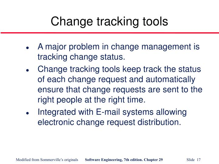 Change tracking tools