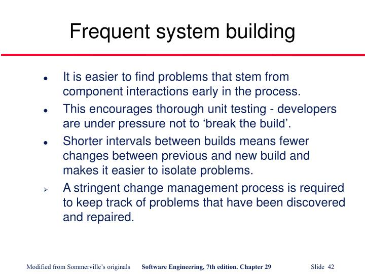 Frequent system building