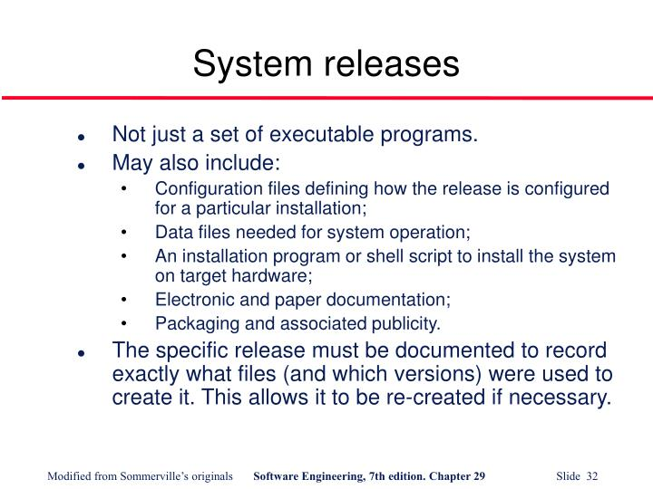 System releases