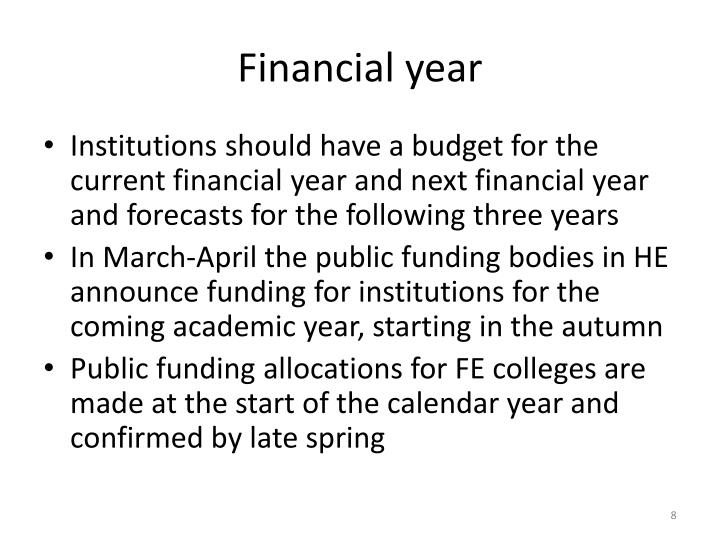 Financial year