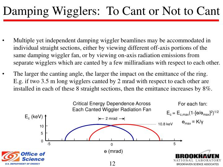 Damping Wigglers:  To Cant or Not to Cant